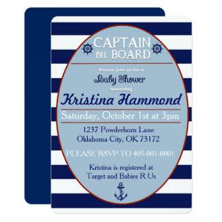Invitación del capitán a bordo fiesta de
