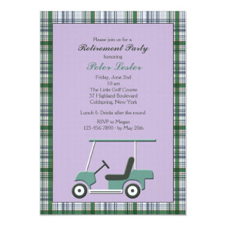 Invitación del carro de golf