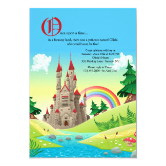 Invitación del castillo del cuento de hadas