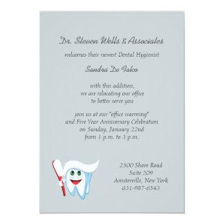 Invitación del cepillo y del diente/invitación
