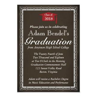 Invitación del certificado de la graduación - invitación 12,7 x 17,8 cm