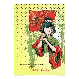 Invitación del chica de geisha