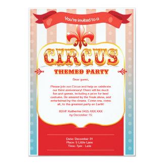 Invitación del circo