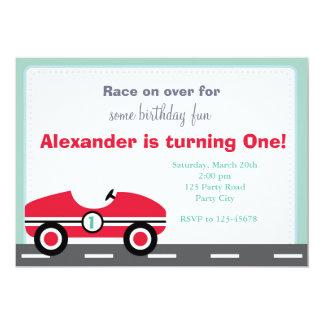 Invitación del coche de carreras (paseo en el