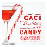 Invitación del cóctel del bastón de caramelo del invitación 13,3 cm x 13,3cm
