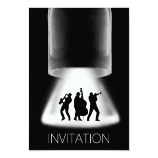 Invitación del concierto del jazz del festival del