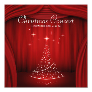 Invitación del concierto del navidad
