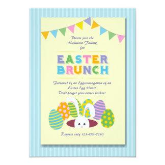 Invitación del conejito del brunch de Pascua Invitación 12,7 X 17,8 Cm