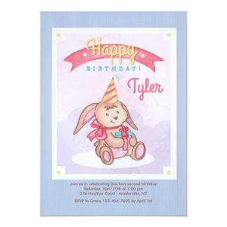 Invitación del conejito del cumpleaños