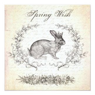 Invitación del conejo de Pascua del vintage