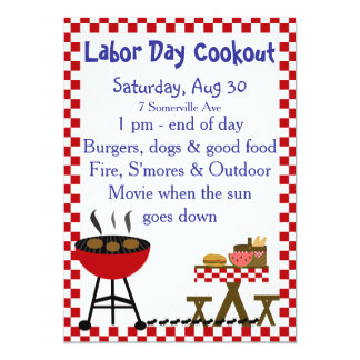 Invitación del Cookout del patio trasero del KRW