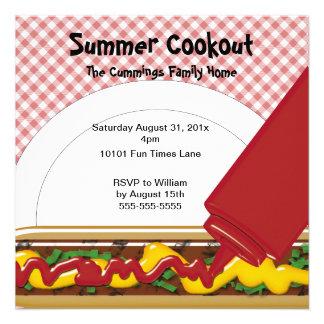 Invitación del Cookout del verano