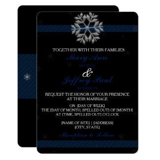 Invitación del copo de nieve con la bandera azul