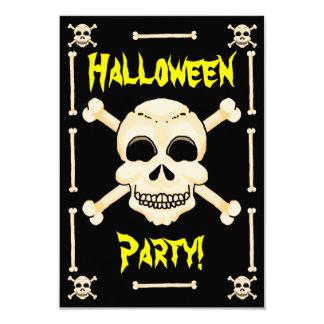 Tarjeta Invitación del cráneo y del fiesta de Halloween de