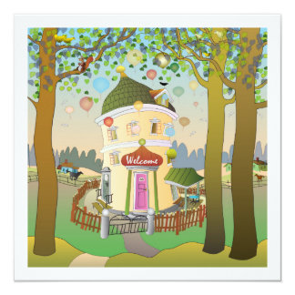 Invitación del cumpleaños de Balloonhouse