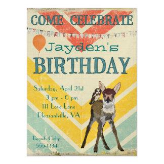Invitación del cumpleaños de Chevron del