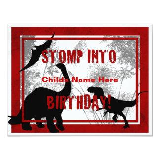 Invitación del cumpleaños de Dino