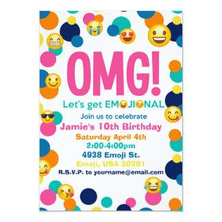 Invitación del cumpleaños de Emoji