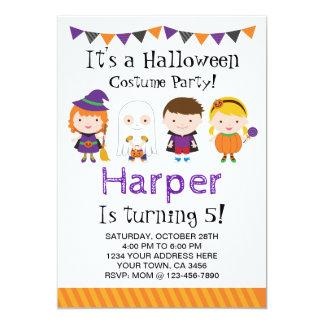 Invitación del cumpleaños de Halloween, fiesta del