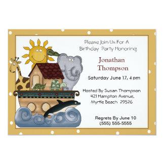 Invitación del cumpleaños de la arca de Noah