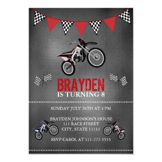 Invitación del cumpleaños de la bici de la