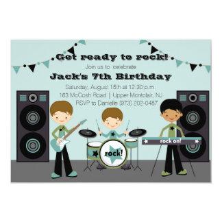 Invitación del cumpleaños de la estrella del rock