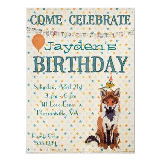 Invitación del cumpleaños de la ESTRELLA del ZORRO