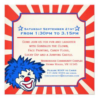 Invitación del cumpleaños de la feria de diversión