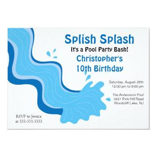 Invitación del cumpleaños de la fiesta en la invitación 12,7 x 17,8 cm
