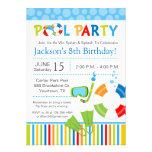 Invitación del cumpleaños de la fiesta en la pisci