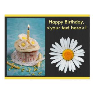Invitación del cumpleaños de la flor de la