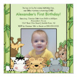 Invitación del cumpleaños de la foto de los