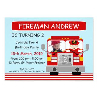 Invitación del cumpleaños de la foto del coche de invitación 12,7 x 17,8 cm