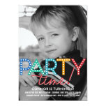 Invitación del cumpleaños de la foto del tiempo