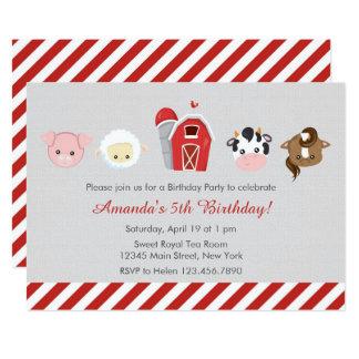 Invitación del cumpleaños de la granja