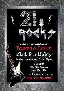 Invitaciones De Cumpleaños Rockstar Zazzle Es