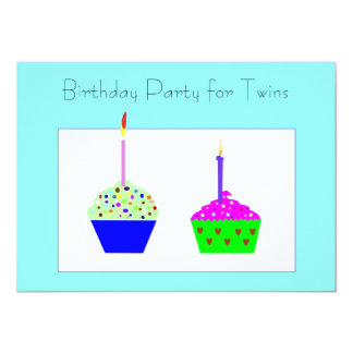 Invitación del cumpleaños de la magdalena de los invitación 11,4 x 15,8 cm