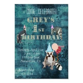 Invitación del cumpleaños de la marina de guerra invitación 12,7 x 17,8 cm