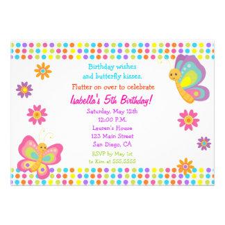 Invitación del cumpleaños de la mariposa
