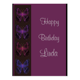 Invitación del cumpleaños de la mariposa postal