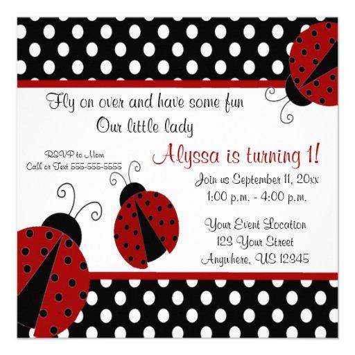 1St Birthday Ladybug Invitations is amazing invitation layout