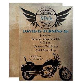 Invitación del cumpleaños de la motocicleta