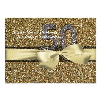 Invitación del cumpleaños de la mujer del cordón
