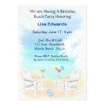 Invitación del cumpleaños de la playa