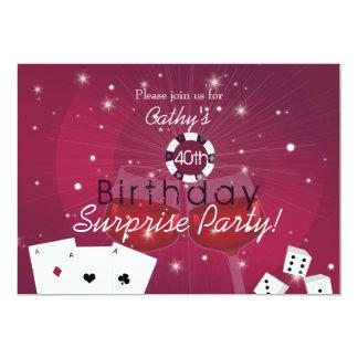 Invitación del cumpleaños de la sorpresa del invitación 12,7 x 17,8 cm