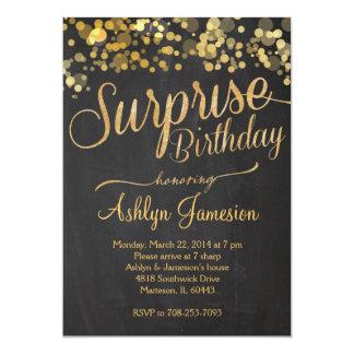 Invitación del cumpleaños de la sorpresa del