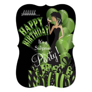 Invitación del cumpleaños de la sorpresa, el