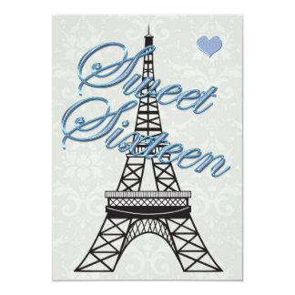 Invitación del cumpleaños de la torre Eiffel de Invitación 12,7 X 17,8 Cm