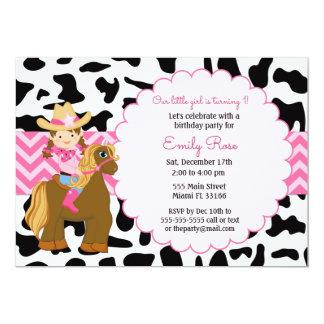 Invitación del cumpleaños de la vaquera