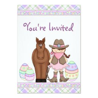 Invitación del cumpleaños de la vaquera, del